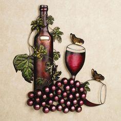 Tuscanys Pride Wine Metal Wall Art $60