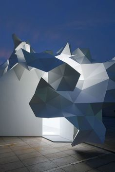 Architect imagines how a building can blossom like a tree : Geometric architecture, Origami architecture, Architecture office, Futuristic architecture. Architecture Origami, Architecture Design, Architecture Office, Futuristic Architecture, Amazing Architecture, Contemporary Architecture, Japanese Architecture, Architecture Geometric, Commercial Architecture