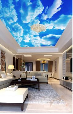 Sunny Clear Sky Ceiling Sticker Ceiling decor Sun Heavens Brightly Photo Paper Ceiling Mural Self Adhesive Exclusive Design Photo Wallpaper 3d Wallpaper Ceiling, Floor Wallpaper, Paper Wallpaper, Self Adhesive Wallpaper, Photo Wallpaper, Wallpaper Murals, Sky Ceiling, Ceiling Murals, Ceiling Decor
