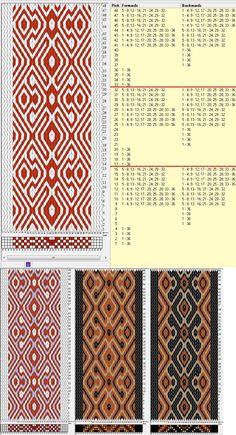 36 tarjetas, 2 / 3 colores, repite cada 16 movimientos // sed_541 diseñado en GTT༺❁