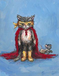 Supercat Canvas Art
