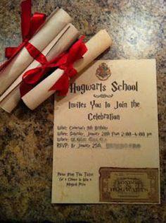 convite festa harry potter