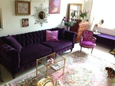 "Chesterfield in Como ""Deep Purple"" velvet"