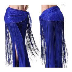 Belly Dance Costume Tribal Tassel hip scarf wrap belt Skirt Fringes Waist skirt…