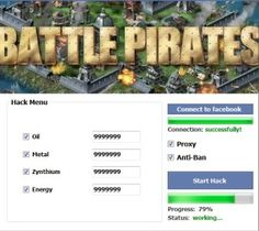 Hack All FB 07: Battle Pirates Hack – Facebook – Free Oil, Metal, Energy And Zynthium