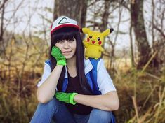 Image result for pokemon photoshoot fem ash ketchum Ash Ketchum, Mario, Steampunk, Photoshoot, Cosplay, Fictional Characters, Image, Collection, Photo Shoot