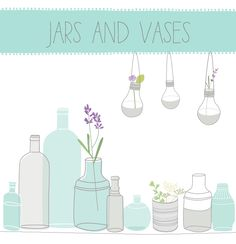 These vases clip art and jar clip art images are so simple and sweet. The jars are semi-transparent so they will take on a bit of the color of whatever Mason Jar Crafts, Mason Jars, Mason Jar Clip Art, Wax Paper Transfers, Photoshop Fonts, Graphic Design Fonts, Logo Design, Invitation, Invites