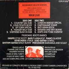 King Tubby Meets Roots Radics - Dangerous Dub (back cover)