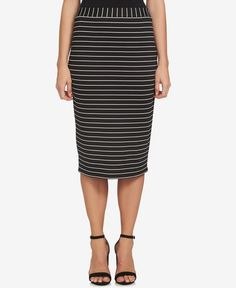 1.state Striped Pencil Skirt