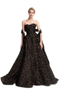 Shop Attached Sash Novelty Ball Gown by Zac Posen for Preorder on Moda Operandi