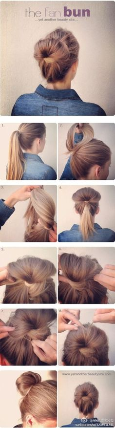Back to school hairstyle.
