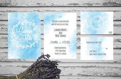 Watercolor Splash Wedding Invitation Printable by ASplashOfHearts