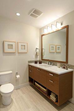 Mid Century Modern Bathroom Remodel skogsvÄg mirror | a master bathroom makeover in a midcentury