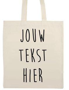 Katoenen tas met eigen tekst