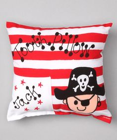 Bunnies and Bows Pirate Personalized Tooth Pillow