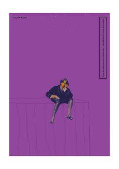色彩鮮豔的版畫風格海報闡述偉大作家與他們的哲學觀 — Selman Hoşgör — 凱亞克的城市美學