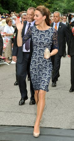 Kate Middleton in Erdem...paired perfectly with nude heels & a nude clutch. Loveeeee.