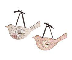 Набор из 2 настенных часов в виде птицы - панели МДФ | Westwing Интерьер & Дизайн