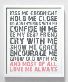 Take a look at this 'Love Me Always' Print by Gus & Lula on #zulily today!