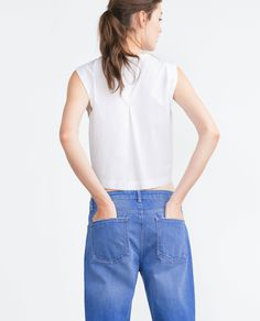 POPLIN TOP - Tops - Woman - COLLECTION AW15   ZARA United States