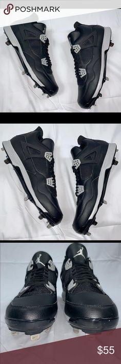 313bf4fe5cc07a Air Jordan Retro 4  Oreo  Baseball cleat SZ 14 100% Authentic! Brand