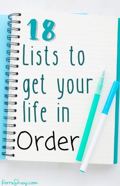 18 lists to get your life in order! Writing these lists will help you keep track of parts of your life better to keep you organized! Planner Pages, Life Planner, 2015 Planner, Planner Tips, Happy Planner, Organization Lists, Organizing, Bujo, Life Binder