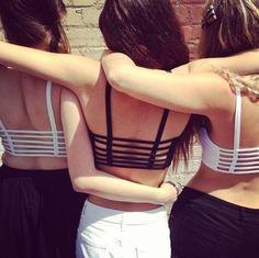 #friends #hot #cute #hug #love #girls #black #wite