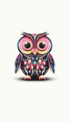 Abstract pattern owl.
