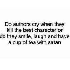 Do authors cry