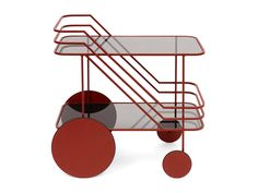 Come As You Are is a modest bar cart with reference to classic serving trolleys. By reducing its components to their essence, the three-dimensional outer railing acts to envelope and unite t…
