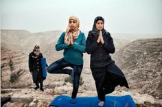 west bank yoga hilltop -- Palestinian Women Embrace Yoga for Peace
