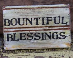 Thanksgiving Decor - Rustic Sign - Reclaimed Wood Sign - Bountiful Blessings
