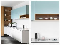 Blue Pastel Kitchen Cupboards