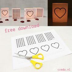 Gratis download! Theelichtjes hartjes http://credu.nl/blog/