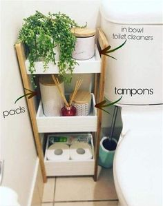 Home Interior Apartment bathroom organization idea for your first apartment in college bao almacenaje.Home Interior Apartment bathroom organization idea for your first apartment in college bao almacenaje Bathroom Organisation, Storage Ideas For Bathroom, Home Storage Ideas, Cute Bathroom Ideas, Home Decor Ideas, Organized Bathroom, Diy Ideas, Bathroom Storage Furniture, How To Decorate Bathroom