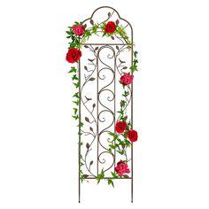 Trellis Fence Panels, Metal Garden Trellis, Iron Trellis, Obelisk Trellis, Plant Trellis, Outdoor Walkway, Plant Supports, Climbing Roses, Scroll Design