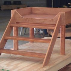 dog beds platform with stairs | Elevated Dog Bed Creation Story by Mid-South Bunk Beds