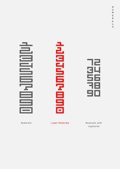 Numerals - Nihon Typeface on Behance by Malwin Béla Hürkey