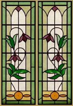 edwardian stained glass windows - Google Search