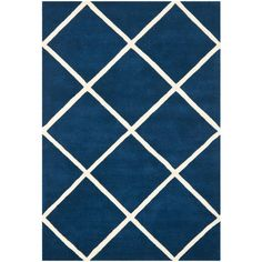 Safavieh Chatham Dark Blue/Ivory 6 ft. x 9 ft. Area Rug-CHT720C-6 - The Home Depot