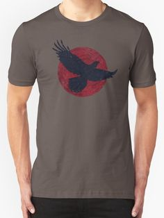 """""""Falcon and the Red Moon"""" T-Shirts & Hoodies by Lidra 