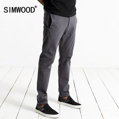 Promo $22.43, Buy SIWWOOD 2017 Autumn Casual Pants Men Fashion Slim Fit Trousers Zipper Fly High Quality Male Brand Clothing KX5537