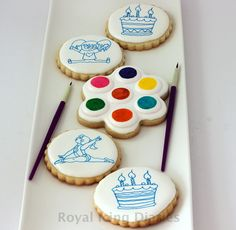 How to make paint palette cookies without an airbrush
