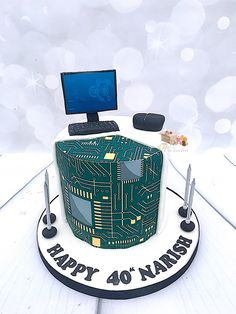 Cake for IT professional motherboard cake computer cake 21st Birthday, Birthday Cake, 40th Cake, Engineering Cake, Computer Cake, Birthday Table Decorations, Sculpted Cakes, Cupcakes, Cakes For Boys