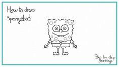 how to draw SPONGEBOB #drawings #stepbystep #howtodraw #easydrawing #spongebob