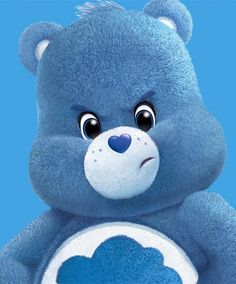 Grumpy bear grumpy on monday Monday Face, Monday Monday, Monday Blues, Mondays, Grumpy Care Bear, Care Bear Tattoos, Kawaii Background, Mark Ryden, I Love My Daughter