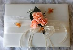 Check out this item in my Etsy shop https://www.etsy.com/listing/261788029/peach-roses-and-ivory-5-pieces-set-for