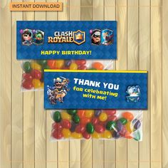 Clash royale Bag-toppers for birthday party Digital file