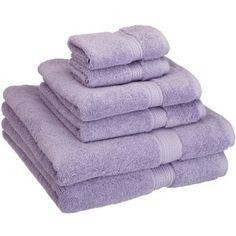 Superior 900 GSM Egyptian Cotton 6-Piece Towel Set Color: Purple