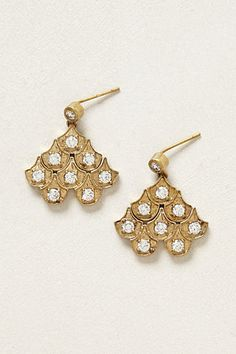 Drop Earrings; gold ; diamonds; holiday